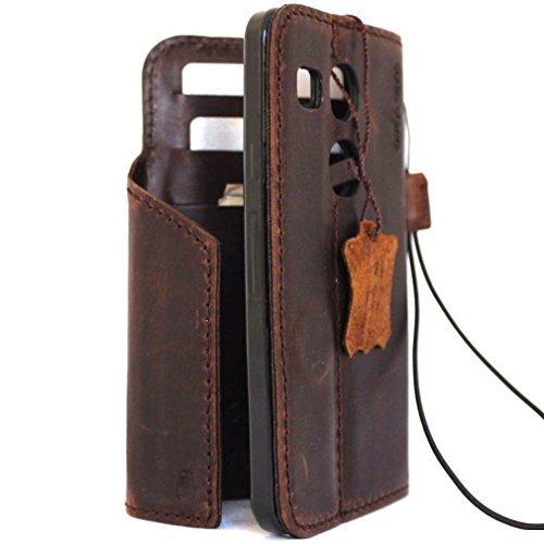Original Vintage geölt Leder Hard Case für LG Nexus 5x Geldbörse handgefertigt X 5Luxus Handarbeit Magnet