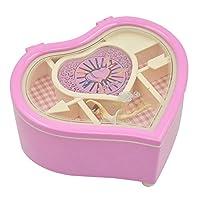 Heart Shaped Dancing Ballerina Music Box Musical Jewelry Box Girls Kids Eid, Christmas, Birthday Gift Music Box Pink