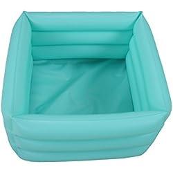 ObboMed® HB-1700 faltbare aufblasbare tragbare Reise Spa Fußpflege Badewanne – Abmessungen 42(L) x 42(W) x 18(H)cm – 16.2 Liter Füllmenge –Entspannung Einweichen Wasserwanne