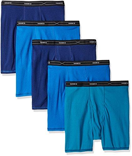 Hanes Herren Boxershorts X-Temp Comfort, Verschiedene Größen, 5er-Pack - Mehrfarbig - X-Large (Boxer Tagless Hanes Classics)