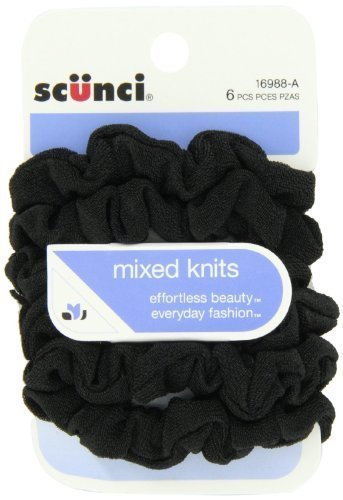 scunci-effortless-beauty-mini-slinky-black-twisters-6-packs-of-6-count-36-count-by-scunci