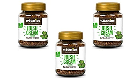 Beanies Instant Coffee Trio Pack - 3 x 50g Jars of 'Irish Cream'