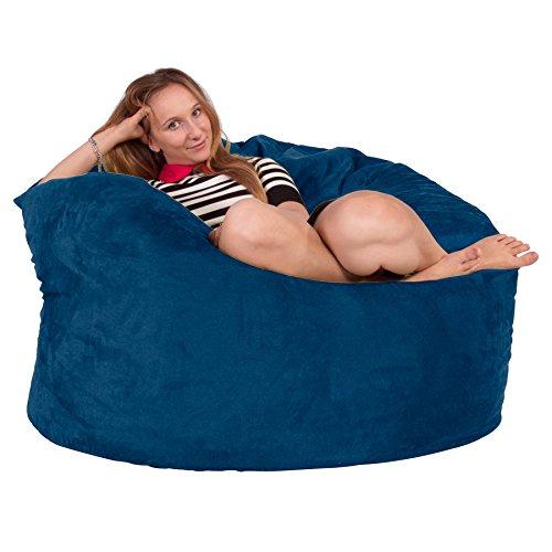 Lounge Lizard - Wildleder - Riesen Sitzsack Sofa – Riesen Sitzsack, Velours, großes Sofa, Relax...