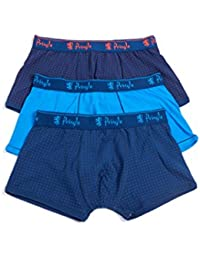 Pringle Mens 3 Pack Edward Fashion Trunks with Contrast Waistband and Binding