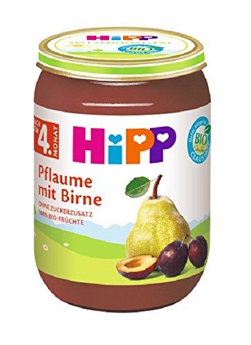 HiPP Früchte Pflaume mit Birne, 6er Pack (6 x 190 g)