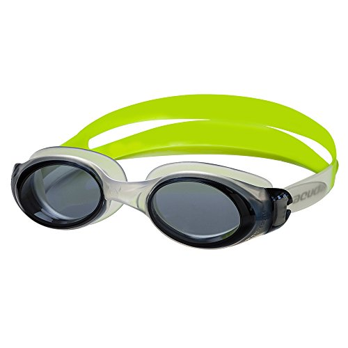 Barracuda Swim Goggle Submerge- Slanted Lenses One-Piece Frame, Anti-Fog UV Protection, Shatter-Resistance, Easy Adjusting Lightweight Comfortable for Adults Men Women #13355-N (Yellow) -