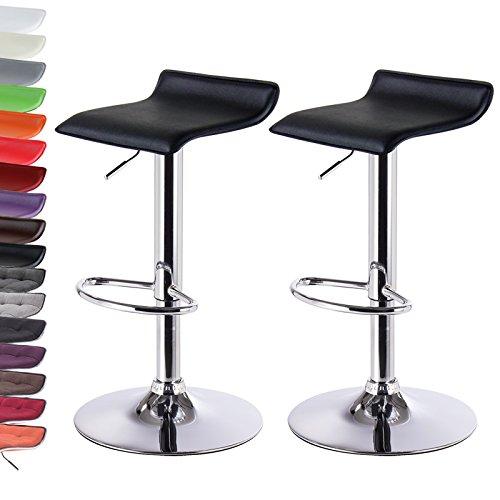 2 x Design Barstühle in Kunstleder von WOLTU