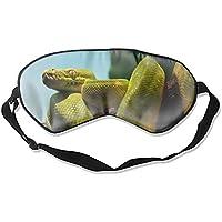 Schlafaugenmasken mit Tier-Python-Schlangen-Motiv, verstellbarer Gurt, Grün preisvergleich bei billige-tabletten.eu