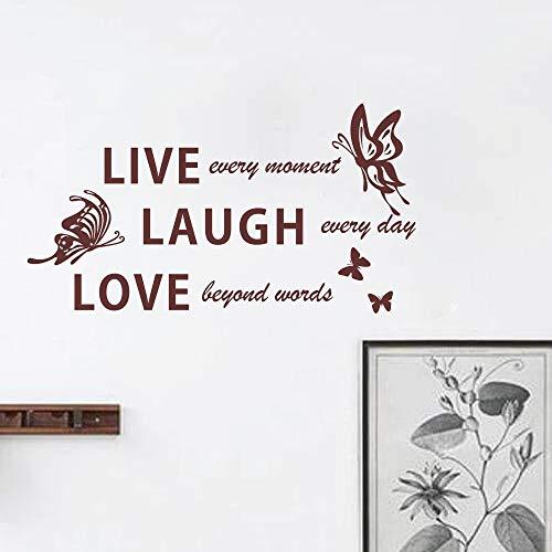pegatina de pared live laugh love wall quotes stikers butterfly decal palabras inspiradoras para la decoración de la habitación