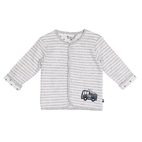 SALT AND PEPPER Baby-Jungen Jacke NB Jacket Ready Stripe, Grau (Light Grey Melange 205), 68