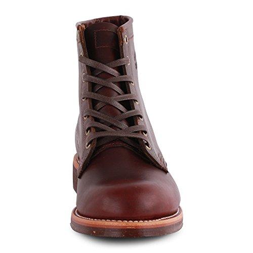 Chippewa 1901M25 Handgearbeitete Herren Leder Boots Cherry Red
