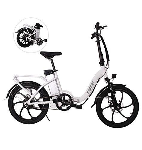 WXJWPZ Bicicleta Eléctrica Plegable Bicicleta Plegable De 20 Pulgadas Portador Trasero Bicicleta De...
