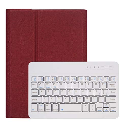 Schutzhülle für iPad Mini 5/4, Jamicy® Abnehmbare Bluetooth-Tastaturhülle (Rot)