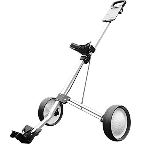 Cvbndfe Golfwagen Golf Cart Swivel Faltbarer 2-Rad-Push-Pull-Wagen Golf-Trolley-Golf-Push-Wagen Stark und leicht -