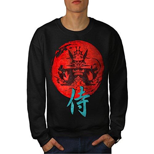 japonais-rouge-symbole-asiatique-homme-nouveau-noir-xl-sweat-shirt-wellcoda