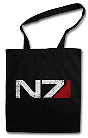 N7 NORMANDY LOGO Hipster Shopping Cotton Bag - Commander Shephard Mass Cerberus PC Game Effect