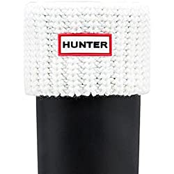 Hunter Woman Short Half Cardigan Boot Sock White 35/36-38