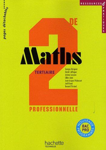 Maths tertiaire 2de professionnelle par Georges Bringuier