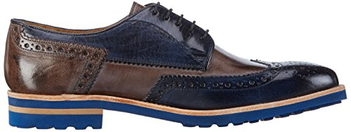 Melvin & Hamilton Johnny 1, Chaussures de ville homme Bleu - Blau (Classic Navy, Stone/Crip Blue)