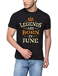 Pepperclub Men's Cotton Round Neck Half Sleeve Tshirt - Legends Are Born In June