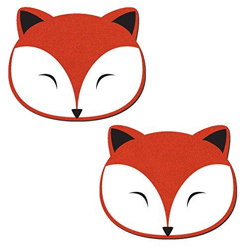 Pastease Femmes Fox Coloré Au Corail Sur Le Denim Pétales Pour Mamelons