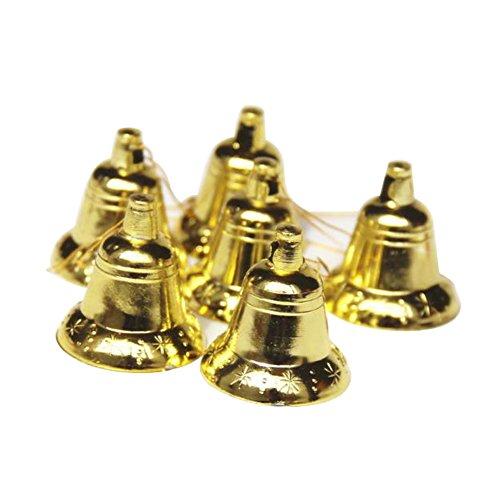 Schellen Glocken für Weihnachten Baum Dekoration Weihnachtsschmuck Wohnaccessoires Kunststoff Deko 6 Stück (Dekoration Weihnachtsschmuck)