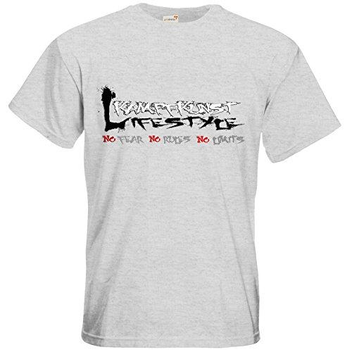 getshirts - Kampfkunst Lifestyle Shop - T-Shirt - Kampfkunst Lifestyle - Logo 1 Ash