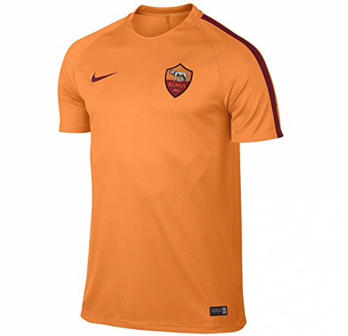 Nike Roma M NK Dry Top SS SQD - Camiseta de manga corta AS Roma para hombre, color naranja, talla S