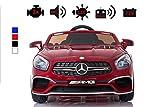 Kinderelektroauto - Mercedes SL 65 AMG - 2 Motoren - Kinderfahrzeug Lizenz + Fernbedienung -Rot