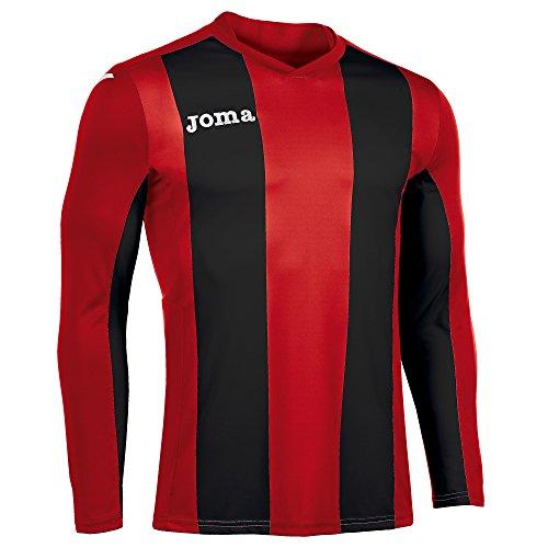 Joma Pisa Langarm T-Shirt, Herren, Herren, Pisa rot/schwarz
