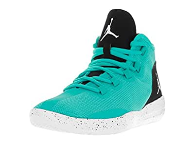 NIKE Jordan Kids Jordan Reveal GG Hyper Jade/White Black White Basketball Shoe 5 Kids US