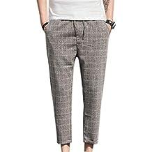 d84e753c43cef Pantalons De Sport Hommes Tissu Extensible en Poches Pantalons Latérales À  Essentiel Cordon Coulissant Pantalons À