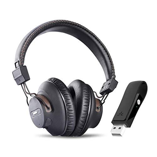 Avantree DG59 Wireless PS4 Gaming Kopfhörer mit Bluetooth USB Audio Transmitter Set für PC Desktop Computer, Plug n Play, Sprechen, Musik gleichzeitig, ohne Verzögerung, 40 Std. Betriebszeit
