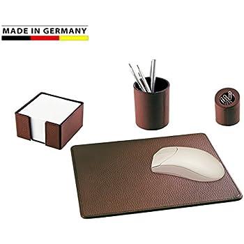 Marke EuroStyle weiches genarbtes Rindleder Handmade in Germany B/üroklammernspender mit Magnet Leder anthrazit erh/ältlich in 13 Farben excl