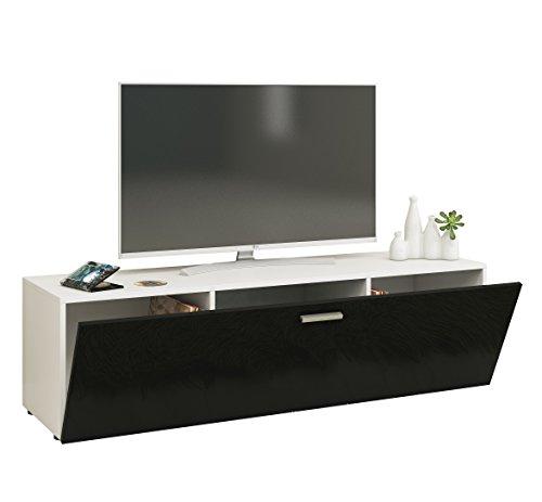 """VCM TV Lowboard Fernsehtisch Rack Phono Möbel Tisch Holz Sideboard Fernsehbank Weiß/Schwarz 40 x 140 x 36 cm """"Winalo"""""""