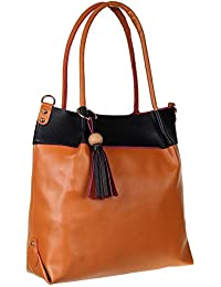 Abrazo Fashionable Brown Color Hand Bag For Women's In Good PU Material