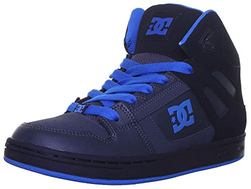 Dc Shoes rebond Se Baskets Junior-Cuir Mat Noir - Black Blue EK