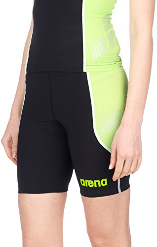 arena Damen Triathlon Hose Powerskin ST, black/pea_green, XS, 25100