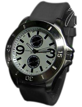 Silikonuhr Herren Damen Unisex Uhr Schwarz Grau Herrenuhr Armbanduhr New Style