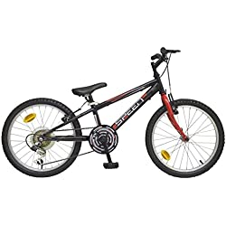 "TOIMSA Bicicleta MTB 20"" Negro 6 velocidades 7-9 años 514"
