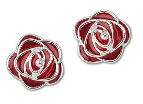 """Orecchini etNox """"Red Roses"""" 925 argento + smalto (O4504R)"""