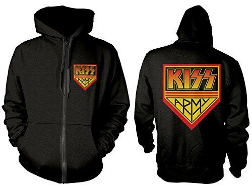 Kiss Army' Zip Up Hoodie