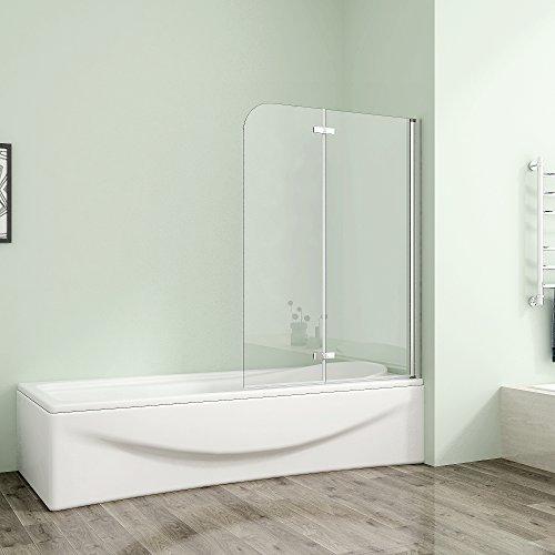 120x140cm Duschabtrennung Badewannenaufsatz Badewannenfaltwand 6mm Duschwand Badewanne mit Nanobeschichtung Glas - Untere Tür Dichtung