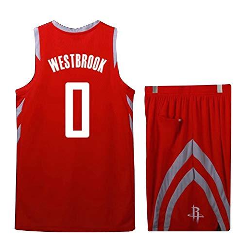 LIANGLIANG Nr. 0 Westbrook Brooklyn Rocket Jersey Harden Nr. 13 Gordon Trainingsball Kostüm Kinder Basketball Wear Men (XS-5XL)-red-XS (Red Xiii Kostüm)