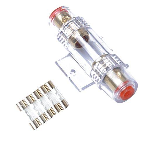VORCOOL 4/8 Gauge AWG In-Line AGU Sicherungshalter mit 5 Stücke 60 Ampere Sicherungen