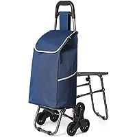 RTTge Carros para presas Carrito de Compras con Asiento Plegable 45L - Carrito para Scooter de Compras de hasta 50 kg de Capacidad de Carga (Estilo : A)