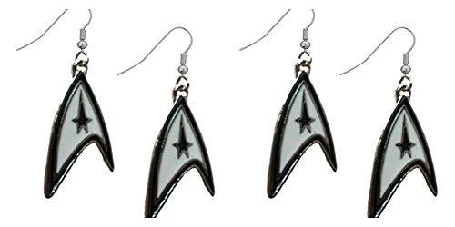 Star Trek Starfleet Logo schwarz und weiß 2Sets -