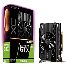 EVGA GeForce GTX 1660 Ti XC Black Gaming, 6GB GDDR6, HDB Fan Graphics Card 06G-P4-1261-KR