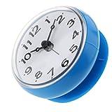Baoblaze Wasserfeste Badezimmer Uhr mit Saugnapf - Duschuhr zum einfachen Aufhängen - Blau
