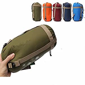 CAMTOA® ultraleicht, klein, warm Schlafsack Hüttenschlafsack, Outdoor Wasserdicht Camping Sleeping Bag Sommerschlafsack Blau